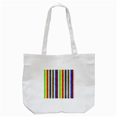 Vivid Colors Curly Stripes - 2 Tote Bag (White)