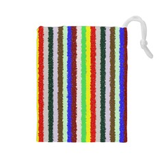 Vivid Colors Curly Stripes - 2 Drawstring Pouch (Large)