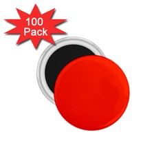 Bright Red 1 75  Button Magnet (100 Pack)