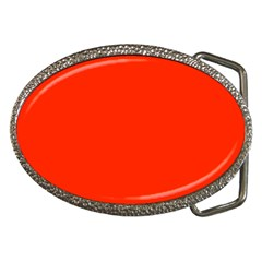 Bright Red Belt Buckle (oval)