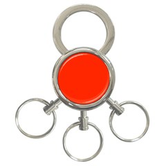 Bright Red 3 Ring Key Chain