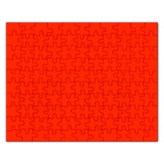 Bright Red Jigsaw Puzzle (rectangle)