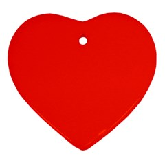 Bright Red Heart Ornament (Two Sides)