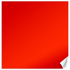 Bright Red Canvas 12  x 12  (Unframed)