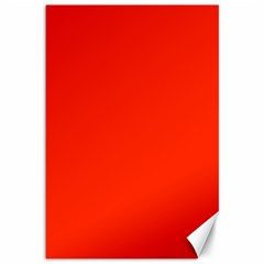 Bright Red Canvas 12  X 18  (unframed)