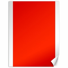 Bright Red Canvas 18  x 24  (Unframed)