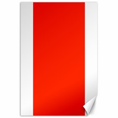 Bright Red Canvas 20  X 30  (unframed)