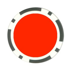 Bright Red Poker Chip