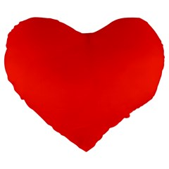 Bright Red 19  Premium Heart Shape Cushion
