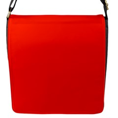 Bright Red Flap Closure Messenger Bag (small)