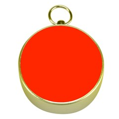 Bright Red Gold Compass