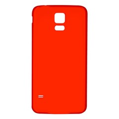 Bright Red Samsung Galaxy S5 Back Case (White)