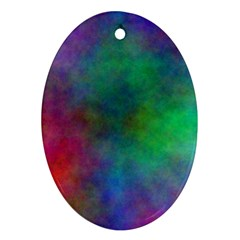 Plasma 1 Oval Ornament (two Sides)