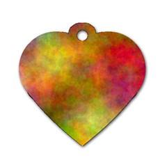 Plasma 8 Dog Tag Heart (two Sided)
