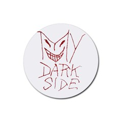 My Dark Side Typographic Design Drink Coasters 4 Pack (round)