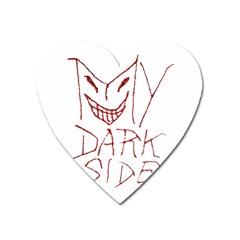 My Dark Side Typographic Design Magnet (heart)