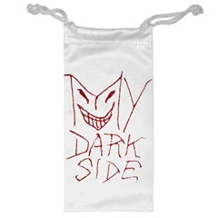 My Dark Side Typographic Design Jewelry Bag