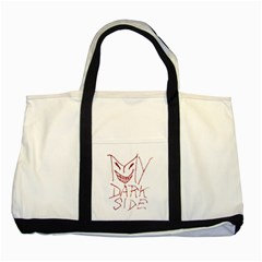 My Dark Side Typographic Design Two Toned Tote Bag