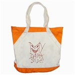 My Dark Side Typographic Design Accent Tote Bag Front