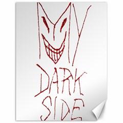 My Dark Side Typographic Design Canvas 12  x 16  (Unframed)
