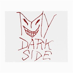 My Dark Side Typographic Design Glasses Cloth (small, Two Sided)