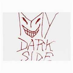 My Dark Side Typographic Design Glasses Cloth (large, Two Sided)