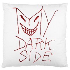 My Dark Side Typographic Design Large Cushion Case (two Sided)