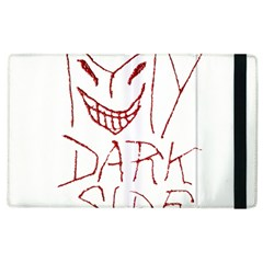 My Dark Side Typographic Design Apple Ipad 2 Flip Case