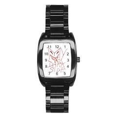 My Dark Side Typographic Design Stainless Steel Barrel Watch