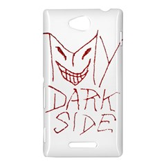 My Dark Side Typographic Design Sony Xperia C (S39H) Hardshell Case