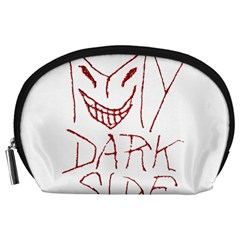 My Dark Side Typographic Design Accessory Pouch (Large)