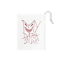 My Dark Side Typographic Design Drawstring Pouch (Small)