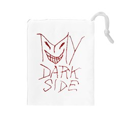 My Dark Side Typographic Design Drawstring Pouch (Large)