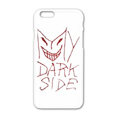 My Dark Side Typographic Design Apple Iphone 6 White Enamel Case