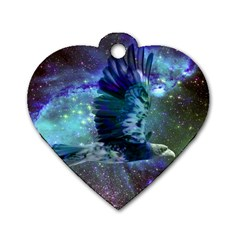 Catch A Falling Star Dog Tag Heart (Two Sided)