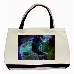 Catch A Falling Star Twin Sided Black Tote Bag
