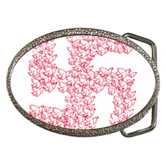 Swastika With Birds Of Peace Symbol Belt Buckle (oval)