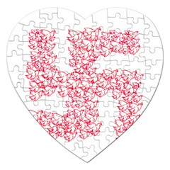 Swastika With Birds Of Peace Symbol Jigsaw Puzzle (Heart)