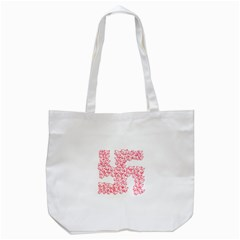 Swastika With Birds Of Peace Symbol Tote Bag (White)