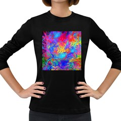Colour Chaos  Women s Long Sleeve T-shirt (Dark Colored)