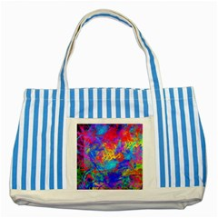 Colour Chaos  Blue Striped Tote Bag