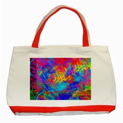 Colour Chaos  Classic Tote Bag (Red)