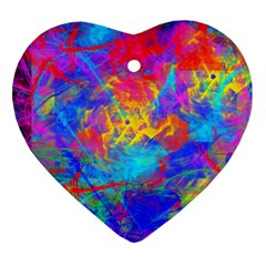Colour Chaos  Heart Ornament (Two Sides)