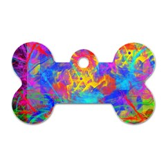 Colour Chaos  Dog Tag Bone (two Sided)