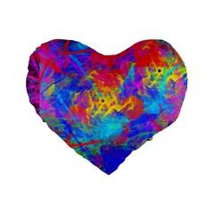 Colour Chaos  16  Premium Heart Shape Cushion