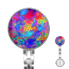 Colour Chaos  Stainless Steel Nurses Watch