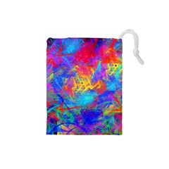 Colour Chaos  Drawstring Pouch (Small)