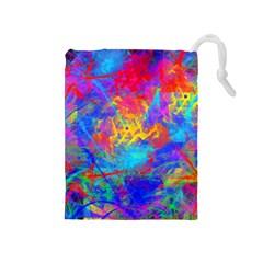 Colour Chaos  Drawstring Pouch (Medium)