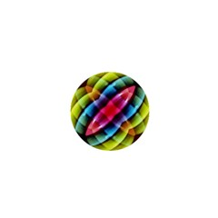 Multicolored Abstract Pattern Print 1  Mini Button Magnet