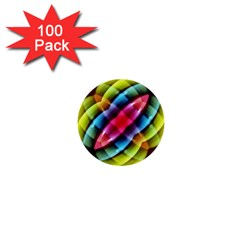 Multicolored Abstract Pattern Print 1  Mini Button (100 Pack)